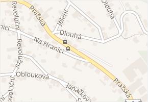 Pražská v obci Jablonec nad Nisou - mapa ulice