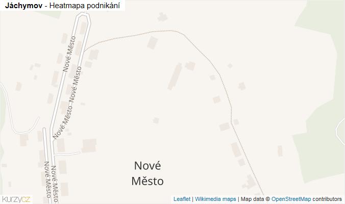 Mapa Jáchymov - Firmy v obci.