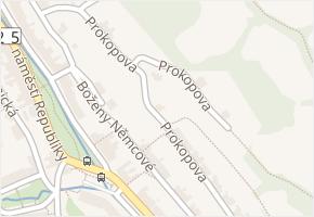 Prokopova v obci Jáchymov - mapa ulice