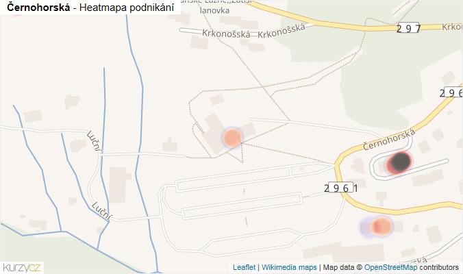 Mapa Černohorská - Firmy v ulici.