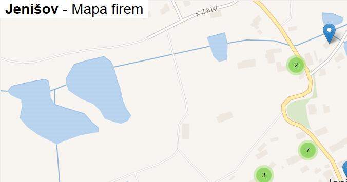 Jenišov - mapa firem
