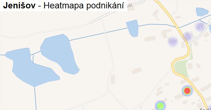 Jenišov - mapa podnikání