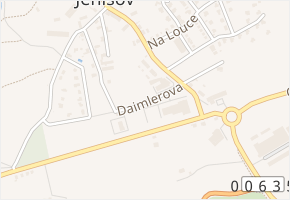 Daimlerova v obci Jenišov - mapa ulice