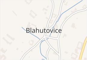 Blahutovice v obci Jeseník nad Odrou - mapa části obce