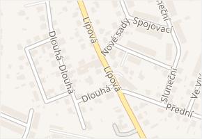 Lípová v obci Jihlava - mapa ulice
