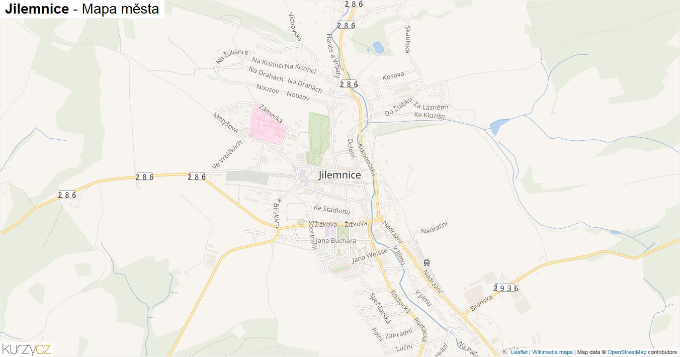 Jilemnice - mapa města