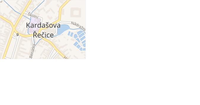 Kardašova Řečice v obci Kardašova Řečice - mapa části obce