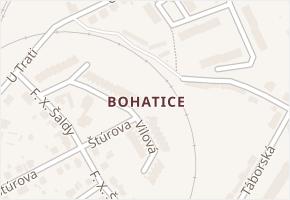 Bohatice v obci Karlovy Vary - mapa části obce