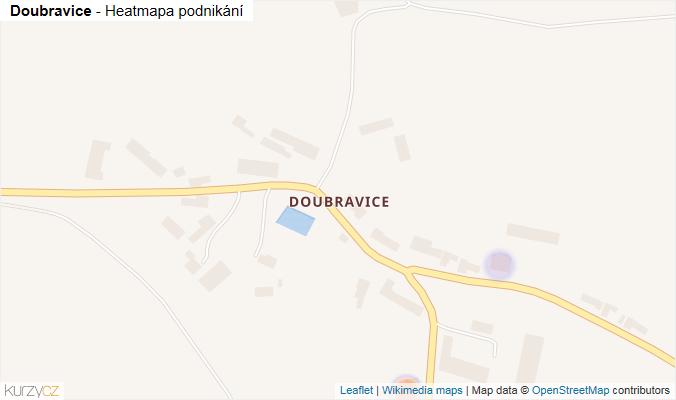 Mapa Doubravice - Firmy v části obce.