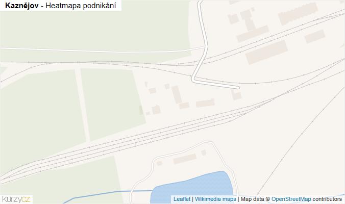 Mapa Kaznějov - Firmy v obci.