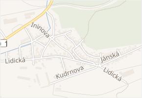 Hradčanská v obci Kladno - mapa ulice