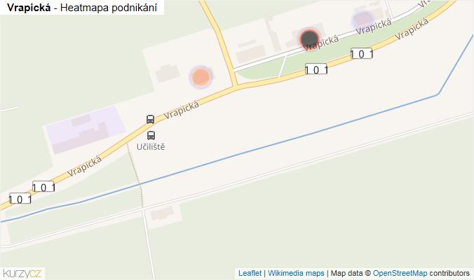 Mapa Vrapická - Firmy v ulici.
