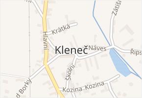 Kleneč v obci Kleneč - mapa části obce