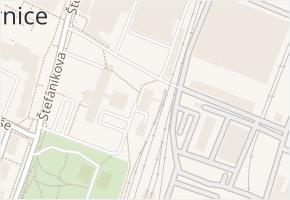 Štefánikova v obci Kopřivnice - mapa ulice