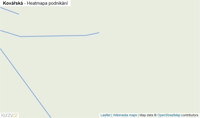 Mapa Kovářská - Firmy v obci.