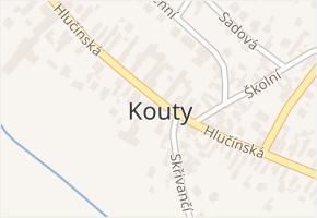 Kouty v obci Kravaře - mapa části obce