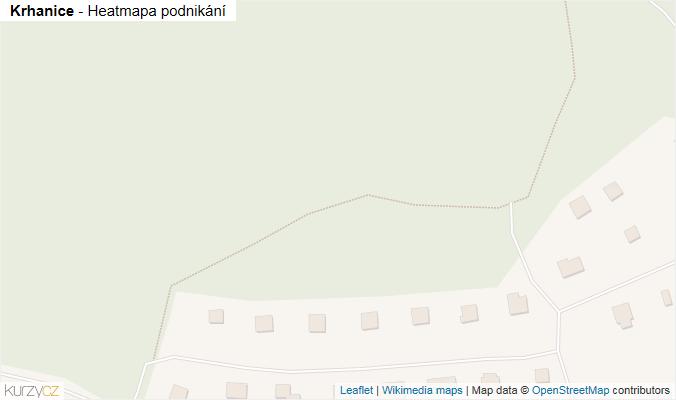Mapa Krhanice - Firmy v obci.