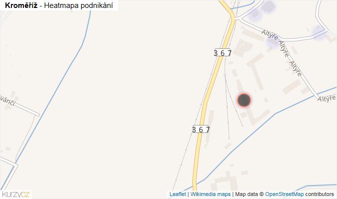 Mapa Kroměříž - Firmy v obci.