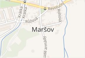Maršov v obci Krupka - mapa části obce