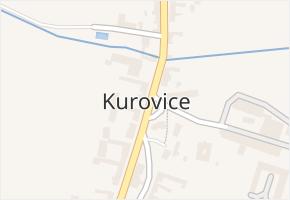 Kurovice v obci Kurovice - mapa části obce