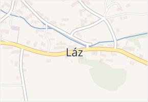 Láz v obci Láz - mapa části obce