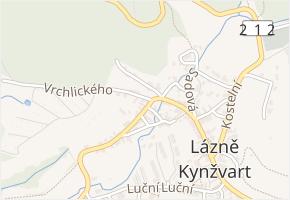 Vrchlického v obci Lázně Kynžvart - mapa ulice