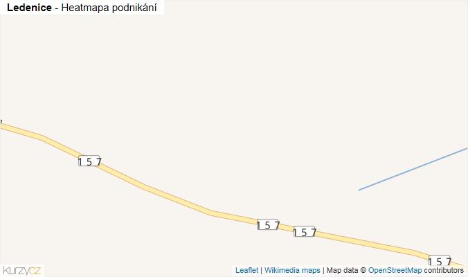 Mapa Ledenice - Firmy v obci.