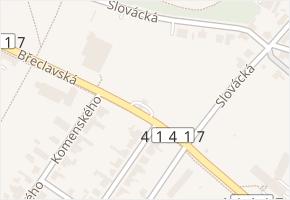 Břeclavská v obci Lednice - mapa ulice