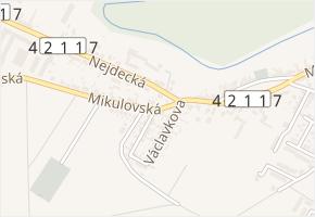 Mikulovská v obci Lednice - mapa ulice