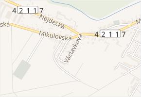 Václavkova v obci Lednice - mapa ulice