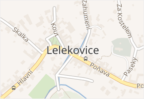 Lelekovice v obci Lelekovice - mapa části obce