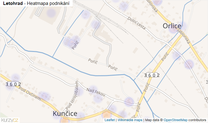 Mapa Letohrad - Firmy v obci.