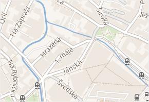 1. máje v obci Liberec - mapa ulice