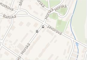 Horská v obci Liberec - mapa ulice