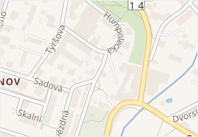 Jablonecká v obci Liberec - mapa ulice