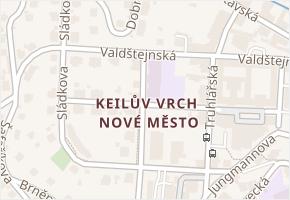 Liberec II-Nové Město v obci Liberec - mapa části obce