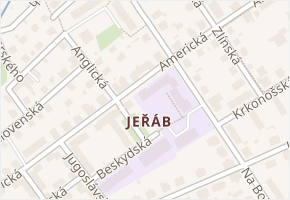 Liberec III-Jeřáb v obci Liberec - mapa části obce
