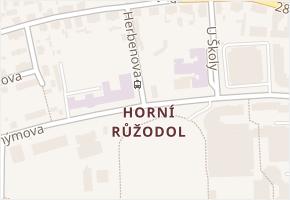 Liberec VII-Horní Růžodol v obci Liberec - mapa části obce