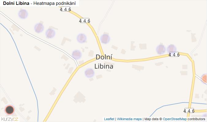 Mapa Dolní Libina - Firmy v části obce.