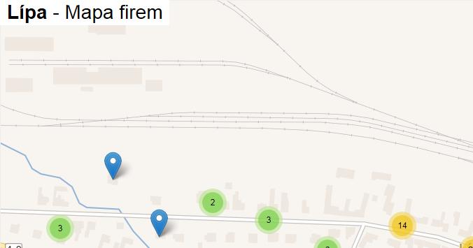 Lípa - mapa firem