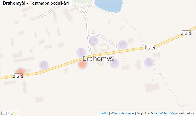 Mapa Drahomyšl - Firmy v části obce.