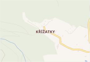 Křížatky v obci Litvínov - mapa části obce