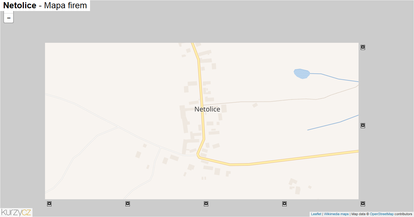 Netolice - mapa firem