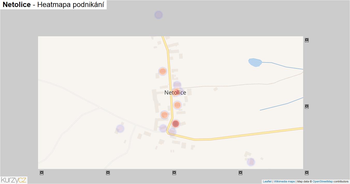 Netolice - mapa podnikání