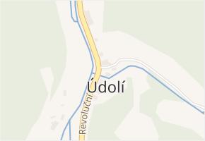 Údolí v obci Loket - mapa části obce