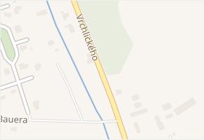 Vrchlického v obci Lom - mapa ulice