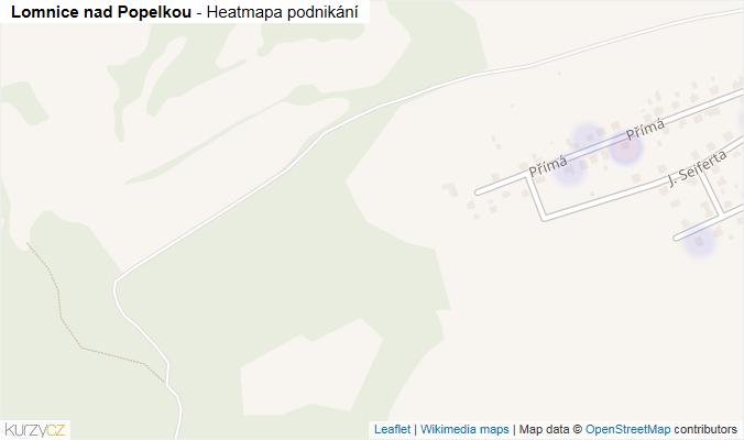 Mapa Lomnice nad Popelkou - Firmy v obci.