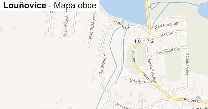 Louňovice - mapa obce
