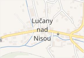 Lučany nad Nisou v obci Lučany nad Nisou - mapa části obce