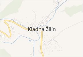 Kladná v obci Luhačovice - mapa části obce